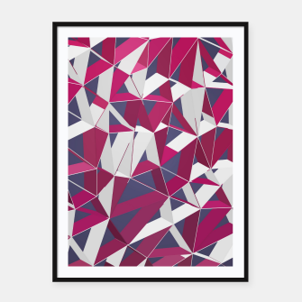 Thumbnail image of 3D Futuristic GEO Lines XXXV Framed poster, Live Heroes