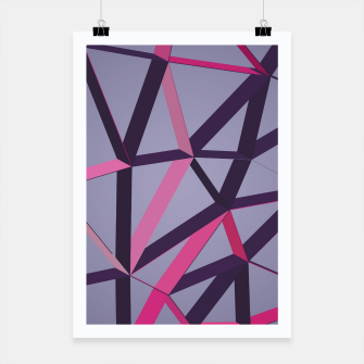 Thumbnail image of 3D Futuristic GEO Lines XXXVIII Poster, Live Heroes