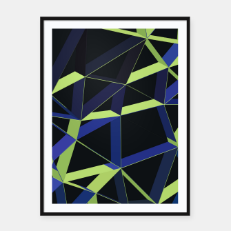 Thumbnail image of 3D Futuristic GEO Lines XLIV Framed poster, Live Heroes