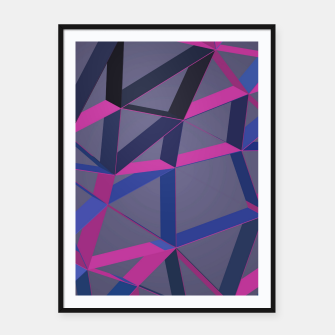 Miniatur 3D Futuristic GEO Lines XLV Framed poster, Live Heroes