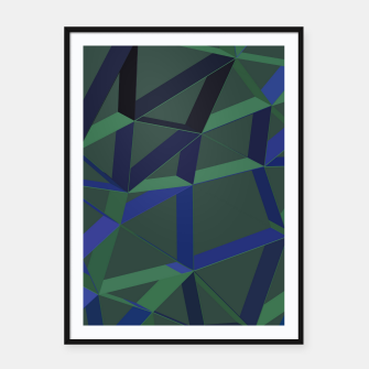 Miniatur 3D Futuristic GEO Lines XLVII Framed poster, Live Heroes