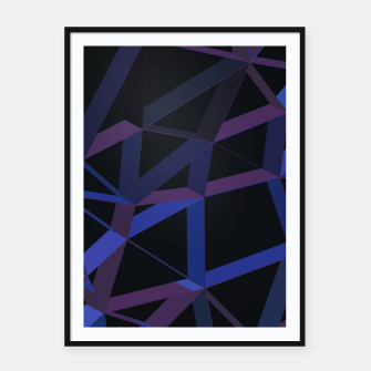 Thumbnail image of 3D Futuristic GEO Lines XLVI Framed poster, Live Heroes