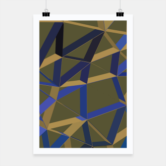 Thumbnail image of 3D Futuristic GEO Lines XLVIII Poster, Live Heroes