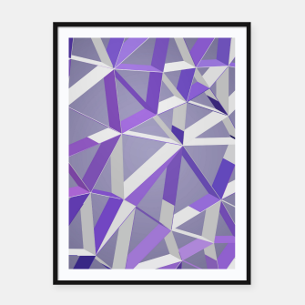 Thumbnail image of 3D Futuristic GEO Lines XLIX Framed poster, Live Heroes
