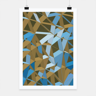 Thumbnail image of 3D Futuristic GEO Lines XXXVII Poster, Live Heroes