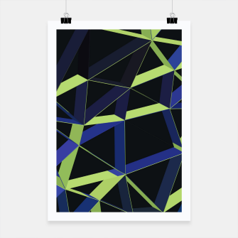 Thumbnail image of 3D Futuristic GEO Lines XLIV Poster, Live Heroes