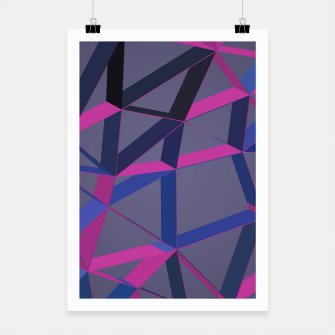 Thumbnail image of 3D Futuristic GEO Lines XLV Poster, Live Heroes