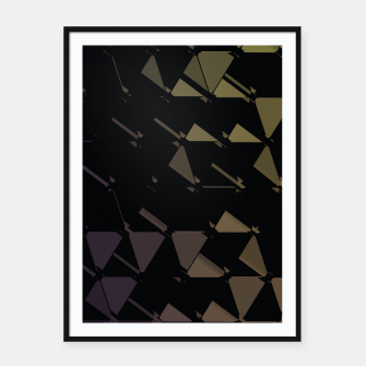 Thumbnail image of 3D Futuristic GEO BG Framed poster, Live Heroes