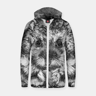 Thumbnail image of AnimalArtBW_Hamster_001_by_JAMFoto Cotton zip up hoodie, Live Heroes