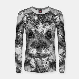 Miniatur AnimalArtBW_Hamster_001_by_JAMFoto Woman cotton sweater, Live Heroes