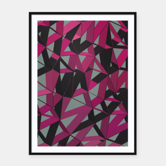 Thumbnail image of 3D Futuristic GEO Lines XXXIX Framed poster, Live Heroes
