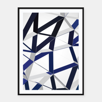 Thumbnail image of 3D Futuristic GEO Lines XLIII Framed poster, Live Heroes