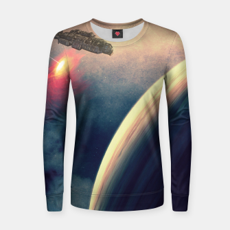 Thumbnail image of Excursion through time Woman cotton sweater, Live Heroes