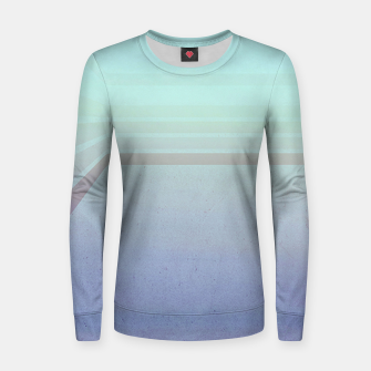 Thumbnail image of Horizontal flight (Blue edition)  Woman cotton sweater, Live Heroes