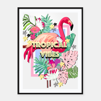 Miniatur Tropical Vibes - Flamingo Framed poster, Live Heroes