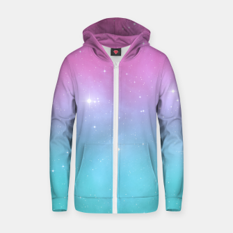 Thumbnail image of Pastel Goth Galaxy Cotton zip up hoodie, Live Heroes