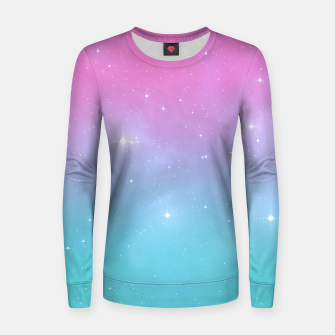 Miniaturka Pastel Goth Galaxy Woman cotton sweater, Live Heroes