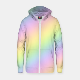 Pastel Goth Rainbow  Cotton zip up hoodie obraz miniatury