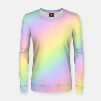 Pastel Goth Rainbow  Woman cotton sweater obraz miniatury