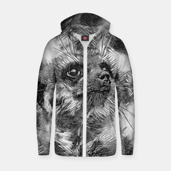 Miniaturka AnimalArtBW_Meerkat_001_by_JAMFoto Cotton zip up hoodie, Live Heroes