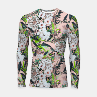 Thumbnail image of Flowering bouquet pink Longsleeve rashguard, Live Heroes