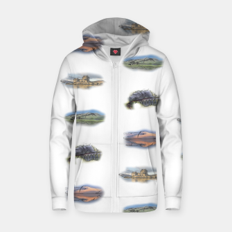 Thumbnail image of Highlands landmarks  Cotton zip up hoodie, Live Heroes