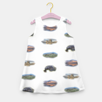 Miniatur Highlands landmarks  Girl's summer dress, Live Heroes