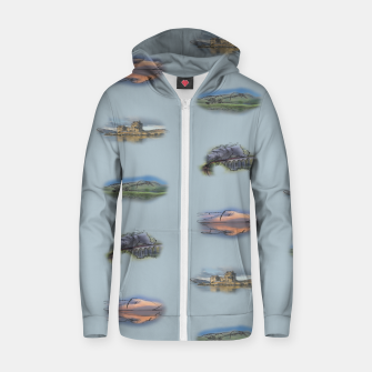 Miniaturka Highland Landmarks blue Cotton zip up hoodie, Live Heroes