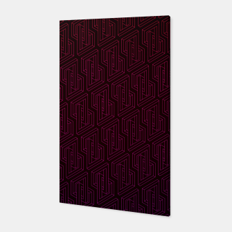 Miniature de image de Geometric Illusion pattern in deep red Canvas, Live Heroes