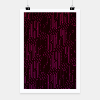Miniatur Geometric Illusion pattern in deep red Poster, Live Heroes