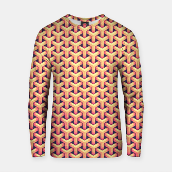 Miniatur Optical illusion - Impossible Pattern -  Gold Grid Pattern Cotton sweater, Live Heroes