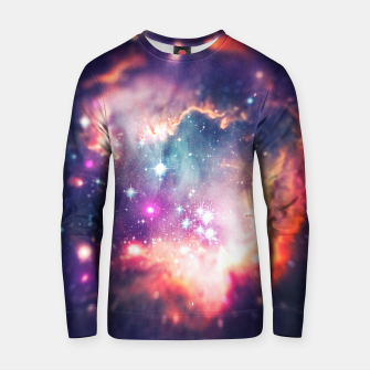 Miniatur The universe under the microscope (space tilt shift art) Cotton sweater, Live Heroes
