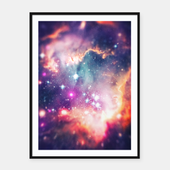 The universe under the microscope (space tilt shift art) Framed poster miniature