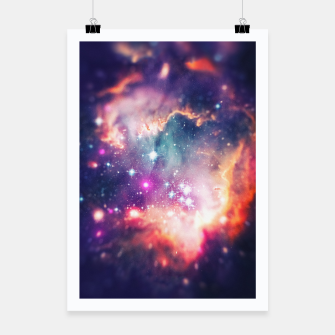 Miniatur The universe under the microscope (space tilt shift art) Poster, Live Heroes