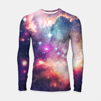 The universe under the microscope (space tilt shift art) Longsleeve rashguard  miniature