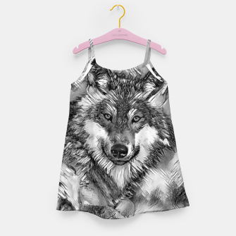 Miniaturka AnimalArtBW_Wolf_001_by_JAMFoto Girl's dress, Live Heroes