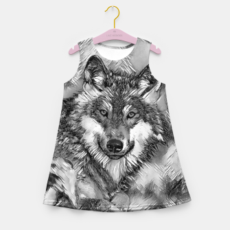 Miniatur AnimalArtBW_Wolf_001_by_JAMFoto Girl's summer dress, Live Heroes