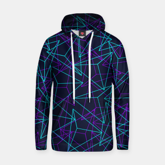 Miniatur DesignAbstract Geometric 3D Triangle Pattern in turquoise/ purple Cotton hoodie, Live Heroes