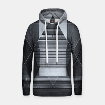 Miniatur The Hotel (experimental futuristic architecture photo art in modern black & white) Cotton hoodie, Live Heroes