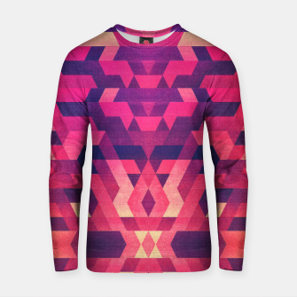 Miniatur Abstract Symertric geometric triangle texture pattern design in diabolic magnet future red Cotton sweater, Live Heroes