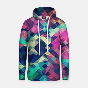 Miniature de image de Fruity Rose - Fancy Colorful Abstraction Pattern Design (green pink blue) Cotton hoodie, Live Heroes