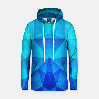 Miniatur Abstract Polygon Multi Color Cubizm Painting in ice blue Cotton hoodie, Live Heroes