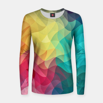 Miniature de image de Abstract Color Wave Flash Woman cotton sweater, Live Heroes