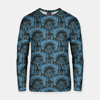 Blue Ancient Mexican Myth Cotton sweater thumbnail image