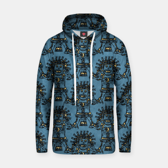 Blue Ancient Mexican Myth Cotton hoodie thumbnail image