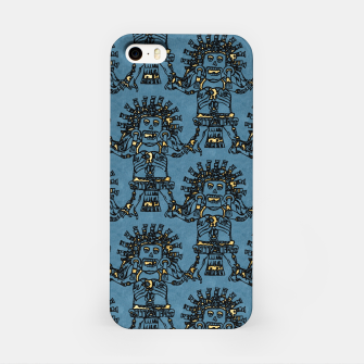 Blue Ancient Mexican Myth iPhone Case thumbnail image