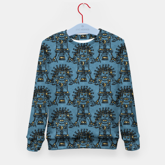 Blue Ancient Mexican Myth Kid's sweater thumbnail image