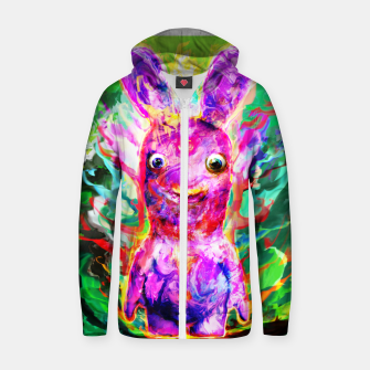 Thumbnail image of rabbit Cotton zip up hoodie, Live Heroes