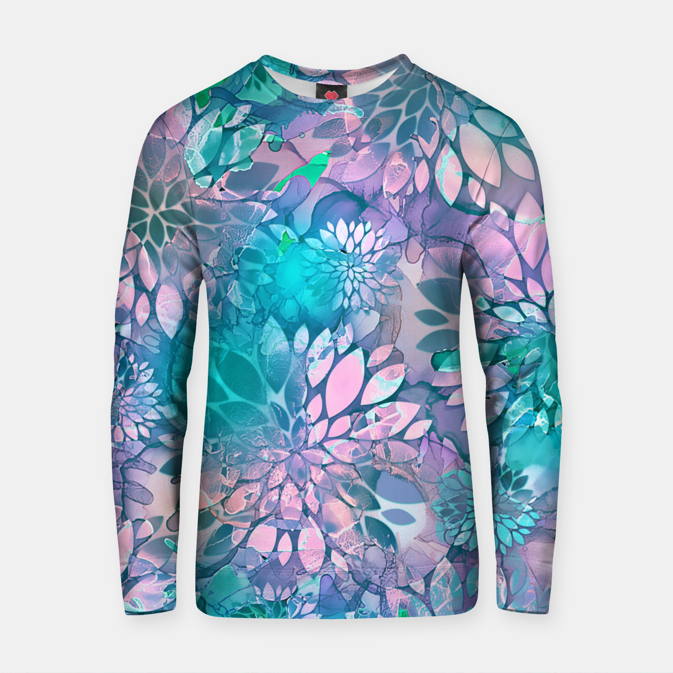Imagen de Painted Background Floral Pattern Cotton sweater - Live Heroes