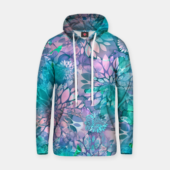Painted Background Floral Pattern Cotton hoodie imagen en miniatura